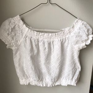 Summery White Lace Crop Top
